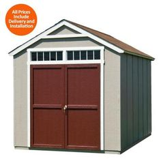 Bon Handy Home Products Installed Majestic 8 Ft. X 12 Ft. Wood Storage Shed With