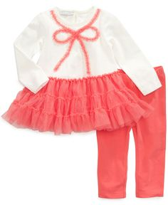 First Impressions Baby Girls' 2-Piece Bow Tunic & Pants Set - Kids Baby Girl (0-24 months) - Macy's