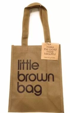 94b8613a77c NWT Bloomingdales Little Brown Reusable Bag Canvas FREE SHIPPING!!! # Bloomingdales