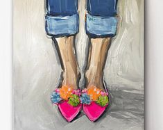 PomPom Shoes Print on paper or canvas