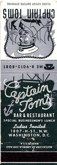 Captain Tom's Bar Restaurant Washington DC