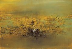 031, ZAO Wou-ki (Chinese-French, b. 1921) 15. 4. 61 Oil on canvas  89 x 130 cm