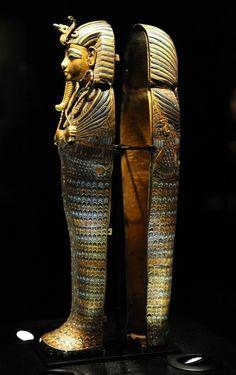En este sarcofago estaba el estomago del Rey Tut.