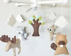 Baby Crib Mobile-Woodland Animals Crib Mobile-Custom Made Mobiles-Forest Animals Mobile