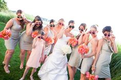 Entire wedding party... Chesapeake Bay Summer Wedding Wedding Real Weddings Photos on WeddingWire
