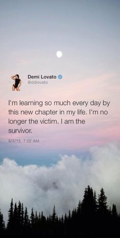 I'm no longer the victim. I am the survivor  credits to @bowmetria on Twitter