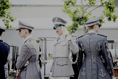 Thom Browne's queer military turns us on - www.fashionkunt.com Queer Fashion, Thom Browne, Fun Stuff, Menswear, Military, Costumes, Hot, Sexy, Dresses