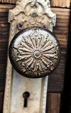 So love this antique door knob
