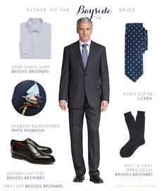 Gray Suit for Father of the Bride, groomsmen or a male wedding guest