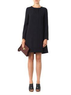Goat Vanya wool-crepe shift dress