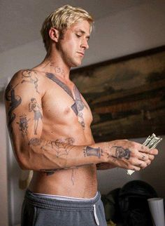 Ryan Gosling in The Place Beyond the Pines #temporarytattoos