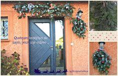 Décoration pour ma porte d'entrée. #branchessapin #decorationnoel #scrapmerveilleux #diy #selfmade #madehands #recup
