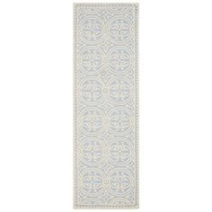 Safavieh CAM123A-2 Cambridge Runner, Light Blue / Ivory