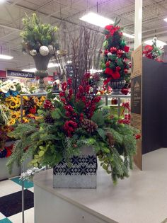 Christmas 2015 9989 By Andi Winter Floral Arrangements Christmas Arrangements Flower Arrangements