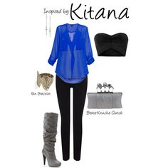 """Kitana (Mortal Kombat)"" by ladysnip3r on Polyvore"