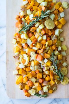 Roasted Autumn Vegetables : lovely recipe for Thanksgiving side dish