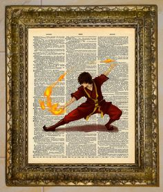 Avatar: The Last Airbender Dictionary Art Zuko. $5.00, via Etsy.