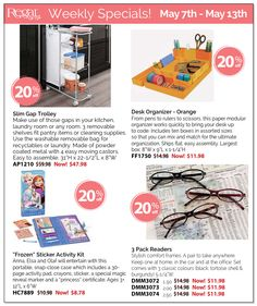 Take advantage of this weeks Regal Gifts Specials! Available until May 13th! https://secure.shopregal.ca/Portal/Pages/weekly/Specials.pdf http://www.Regal.ca