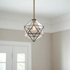 Brass Pendant Light, Mini Pendant, Pendant Lights, Entrance Lighting, Chandelier In Living Room, Pendant Lighting Bedroom, Light Bulb Types, Glass Design, Hanging Lights