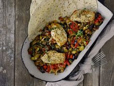Ratatouille, Paella, Vegetable Pizza, Tacos, Meat, Chicken, Vegetables, Ethnic Recipes, Food