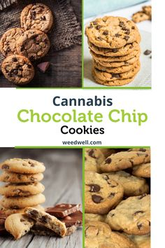 Today we're going to be cooking up some classic jumbo chocolate chip cannabis cookies. This is one of our all time favorite recipes and these cookies are Butter Chocolate Chip Cookies, Butter Cookies Recipe, Chocolate Chip Recipes, Coconut Oil Cookies, Weed Recipes, Marijuana Recipes, Cannabis Edibles, Baking Recipes, Vegetarian Food