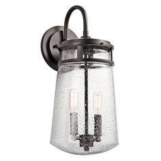 Kichler Lyndon 2 Light 8  Wide Wall Sconce with Seedy Glass Shade - Ar