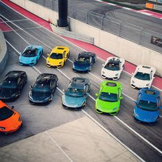 «The raging bulls are ready to hit the weekend, are you?  #Lamborghini #Aventador #LamboHuracan #awesome»