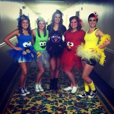 DIY group Halloween costumes - Sesame Street