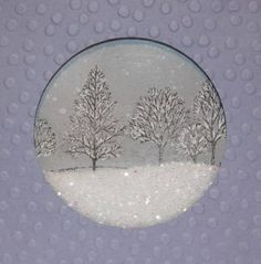 Snow Globe Card with sparkles. :-) More