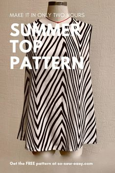 Easy sewing hacks are offered on our web pages. look at this and you wont be sorry you did. Sewing Hacks, Sewing Tutorials, Sewing Tips, Sewing Crafts, Sewing Ideas, Top Pattern, Free Pattern, Tunic Pattern, Leftover Fabric