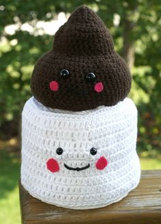 BFF Crocheted Toilet Paper Cover by BrightViewCandles on Etsy, $25.00----I actually think this is a cute, maybe something wrong with me---LOL.