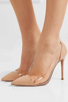 Gianvito Rossi plexi 105 patent-leather and pvc pumps. Nude Shoes, Stiletto Heels, Pumps Heels, Stilettos, Women's Shoes, Comfy Shoes, Casual Shoes, Danse Lente, Jean Délavé