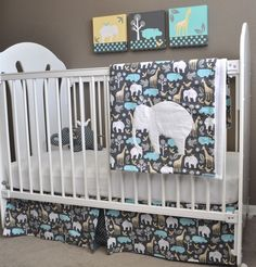 Circo 4pc Crib Bedding Set Trunks Of Love Nursery
