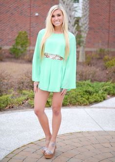 Line Green Lace Cutout Romper - Smooch Boutique