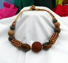 Image result for wood bead jewellery