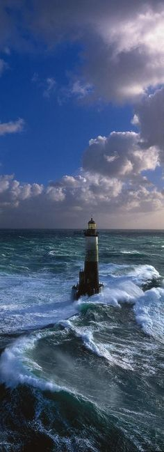 Ar-Men Lighthouse, Brittany, France - built between 1867 and 1881 photo via globalgallery.com