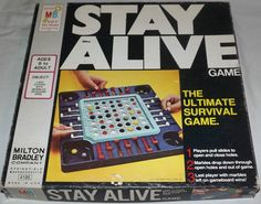 MILTON BRADLEY: 1971 Stay Alive Game #Vintage #Games