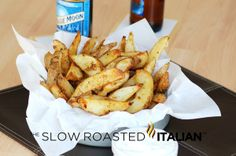 Oven Baked Garlic Potato Fries