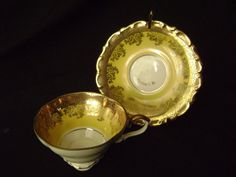 Vintage Yellow and Gold Lindner Kueps Bavaria by TimeWornDolly