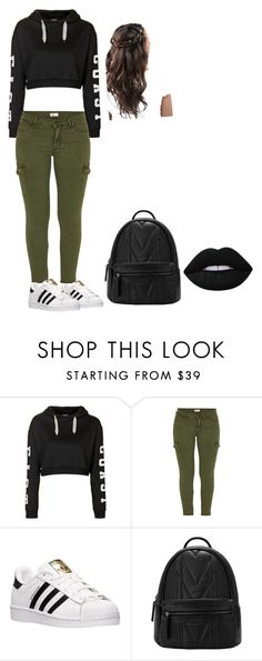 """School 1"" by thereal-queent on Polyvore featuring Topshop, Mother, adidas and Lime Crime"