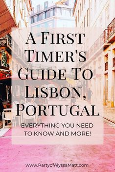 First time in Lisbon? I have you covered! This is everything you need to know for your first time in Lisbon. First time in Lisbon? I have you covered! This is everything you need to know for your first time in Lisbon. Portugal Vacation, Portugal Travel Guide, Portugal Trip, Italy Vacation, Visit Portugal, Spain And Portugal, Travel Guides, Travel Tips, Day Trips From Lisbon