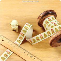 Christmas ♥ 3m Cotton Ribbon - Gingerbread Man (15mm) £4.50