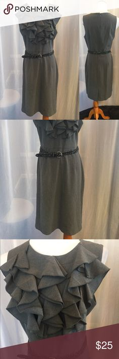 Gray Career Dress BE the boss in this gray dress by Emma & Michele (size 12). Add a blazer or cardigan and you're ready to go! Emma & Michele Dresses Midi