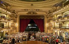 El Ateneo bookstore in Buenos Aires. I'd love to get lost in this place. :)