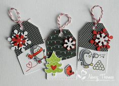 Today's gift tags are for the Lawnscaping Challenge: Tag It (#119) . I don't make handmade tags for every gift under the tree but I do try t...