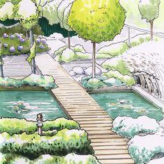 260 Idees De Dessin Jardin Dessin Jardin Dessin Architecture Jardins