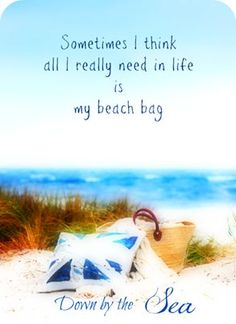 Sometimes I think all I really need in life is my beach bag