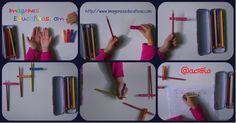 Como enseñar a coger el lápiz correctamente con pinzas de la ropa