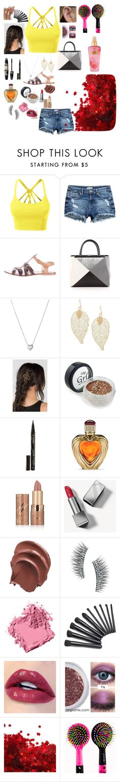 """🌹🎶💍"" by stylist568 ❤ liked on Polyvore featuring LE3NO, Miu Miu, Fendi, Links of London, Smith & Cult, Victoria's Secret, Max Factor, tarte, Burberry and Kre-at Beauty"