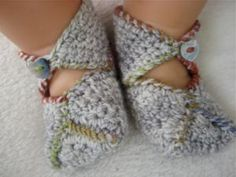 Crochet Some Sweet Baby Booties with These Free Patterns: Wrap-Around Baby Booties